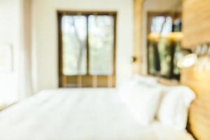 Blur bedroom interior photo