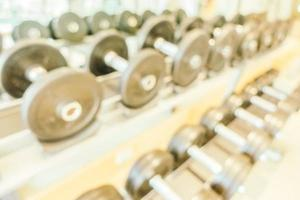 Abstract blur fitness and gym room interior photo