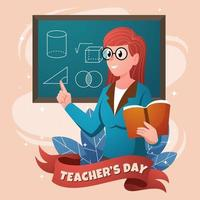 Lovely World Teacher's Day vector