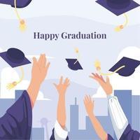 feliz celebración de graduación vector