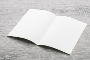 maqueta de cuaderno en blanco foto