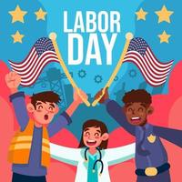 Happy Labor Day for Everyone vector