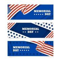 Memorial Day Festivity Banner Collection vector