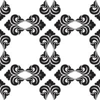 Seamless vector decorative pattern in black color with empty rhombuses on a white background.