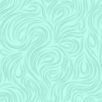 Vector marine seamless texture for decorating fabrics or paper from cut lines, rotating in the form of loops and spirals on a turquoise background