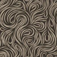 Seamless beige vector texture for decoration of fabrics or paper out of cut lines spinning in the form of loops and spirals on a dark background.