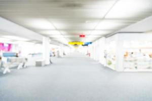 Abstract blur airport interior background
