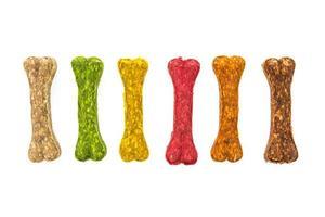 Colorful dog bones food photo