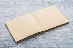 maqueta de cuaderno en blanco