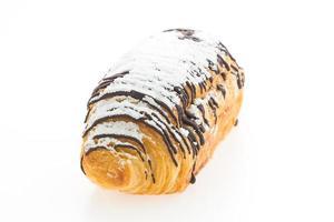 Croissant chocolate isolated photo