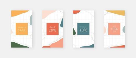 Social media template. Trendy editable social media stories template. Mockup isolated. Template design. Vector illustration.