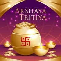 Akshaya Tritiya Festival Celebration vector