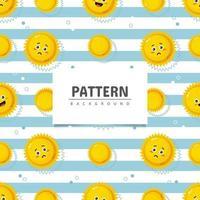 Cute sun seamless pattern design