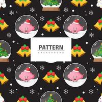Cute seamless Christmas pattern background vector