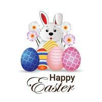 feliz fondo de celebración del día de pascua con huevo de pascua creativo vector