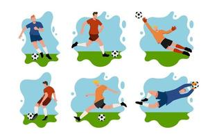 Soccer Player Characters vector