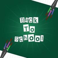 Creative illustartion of back to school background vector
