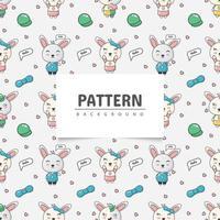 Cute rabbit seamless pattern vector