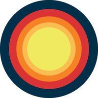 Fondo de ilustración de vector de puesta de sol retro vintage