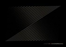rayas abstractas líneas doradas superpuestas diagonales sobre fondo negro. estilo de lujo. vector