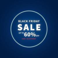 Banner de promoción de venta de viernes negro. promoción y plantilla de compras para el evento del viernes negro. ilustración vectorial. vector