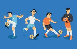 Soccer Player Character Collection vector