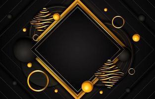 fondo de lujo negro y dorado vector