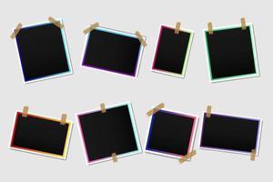 Blank photo frames collection vector