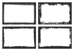 Abstract black grunge frames collection vector