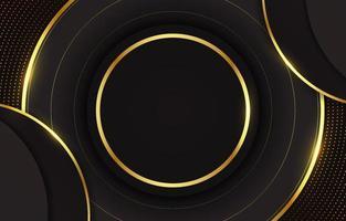 fondo negro y dorado en blanco vector