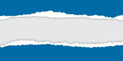 Blue ripped torn paper background vector