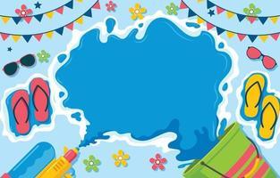 Songkran Water Festival Background vector