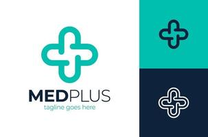 Plantilla de diseño de logotipo de concepto de atención médica creativa. elementos de plantilla de diseño de icono de logotipo médico cross plus vector