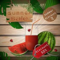 Summer sale illustration with fruit vector
