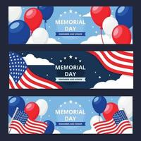 USA Memorial Day Banner Template