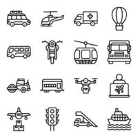 Pack of Automobile Linear Icons vector