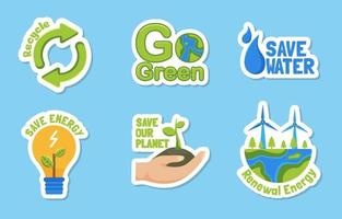 Awareness Earth Day Sticker vector