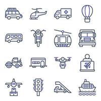 Pack of Automobile Flat Icons vector