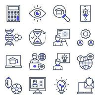 Pack of Learning Flat Icons vector