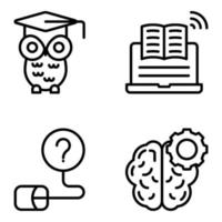 Pack of Education and Learning Linear Icons vector