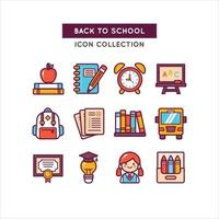 School Objects Used for Education vector