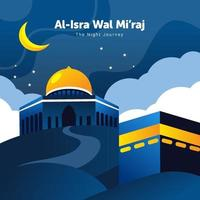 Isra Miraj Background The Night Journey vector