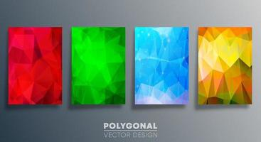 Polygonal colorful design for flyer, poster, brochure cover, background, wallpaper, typography, or other printing products. Vector illustration