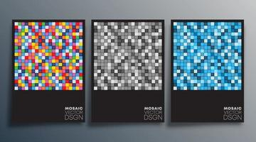 Mosaic colorful design for flyer, poster, brochure cover, background, wallpaper, typography, or other printing products. Vector illustration