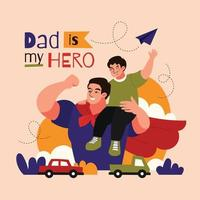 Father's Day Concept in Flat Style vector