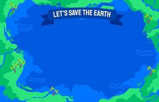 Earth Day Globe Background vector