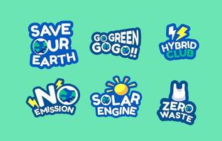 Eco Energy Sticker vector