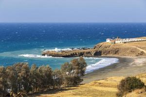 View of the Pachyamos village beach in Cyprus