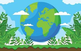 Flat Earth Day Background vector