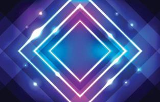 Neon Effect with Square Background vector